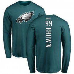 Men's Jerome Brown Philadelphia Eagles Backer Long Sleeve T-Shirt - Green