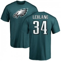Youth Cre'von LeBlanc Philadelphia Eagles Name & Number Logo T-Shirt - Green
